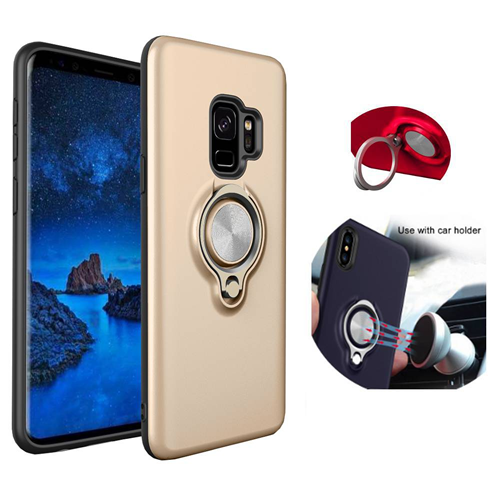 Handy Case Schutzhülle Back Cover Ring mit Magnet Samsung Galaxy S9 plus