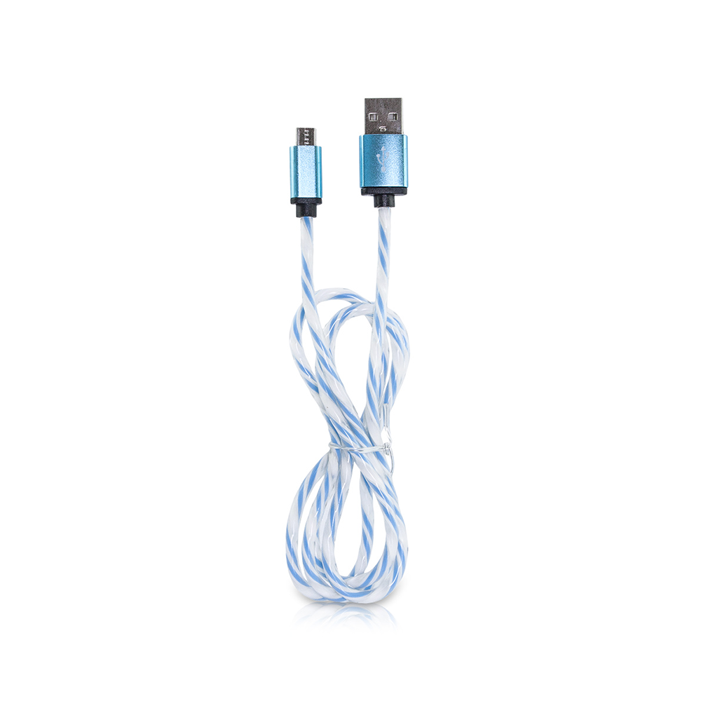 Micro USB Schnell Ladekabel Rainbow Candy 2 Farben