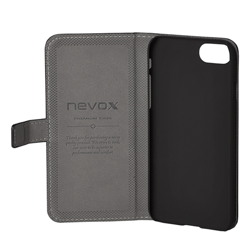 NEVOX ORDO Bookcase Apple iPhone X schwarz-grau