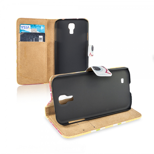Wallet Case Cover Design Eule Samsung Galaxy S4 I9500
