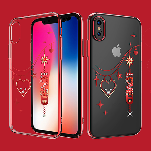 KINGXBAR Neues Modell Loved Deluxe Swarovski® Hard Case for iPhone X 5.8