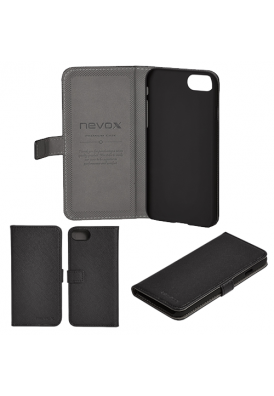 NEVOX ORDO Bookcase Apple iPhone 7/8 schwarz-grau