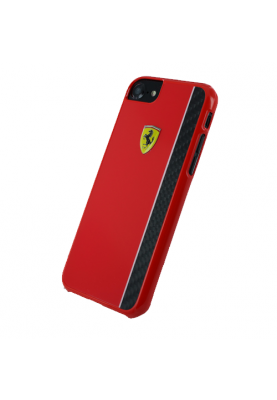 Ferrari - Paddock Glossy Carbon - Hardcover - Apple iPhone 7/8