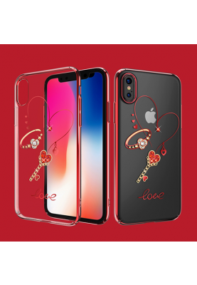 KINGXBAR Neues Modell Love Deluxe Swarovski® Hard Case for iPhone X Rot