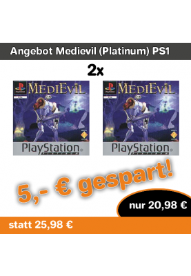 Angebot Medievil (Platinum) PS1 Fun Game Playstation 1 1998 2 Stück