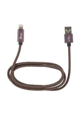 Roar USB-Kabel für iPhone in braun