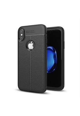 Apple iPhone X Schutzhülle Case Lederoptik Bcover Lederlook