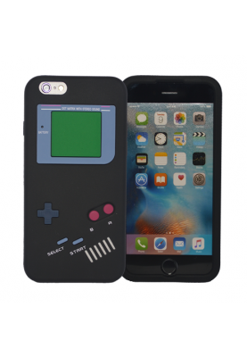 Softcase Case Cover Schutz Hülle Retro für Apple iPhone 6 Black