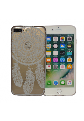 Super Case Cover Schutz Hülle Slim Softcase mit Druck Spring für Apple iPhone 7 Plus