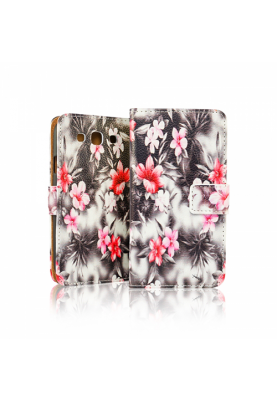Wallet Case Cover Design Flowers Blumen Samsung Galaxy S4 I9500