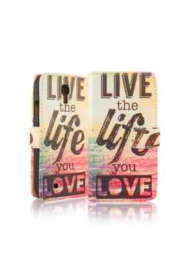 Wallet Case Cover Design Life Samsung Galaxy S4 I9500